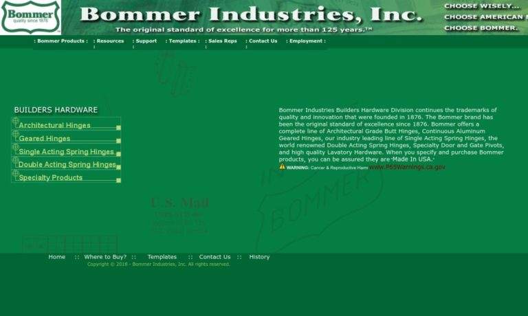 Bommer Industries, Inc.