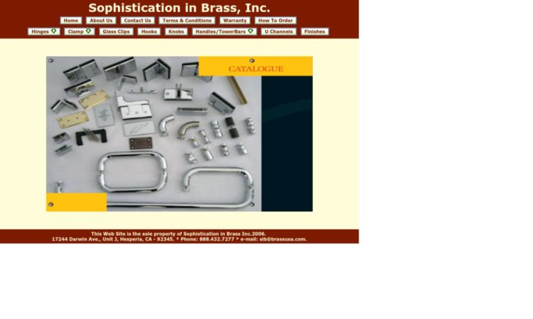 Sophistication in Brass, Inc.