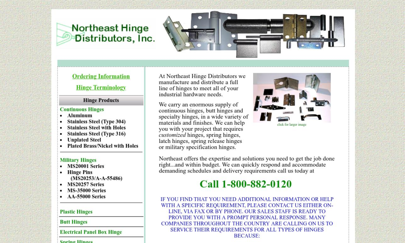 Northeast Hinge Distributors, Inc.