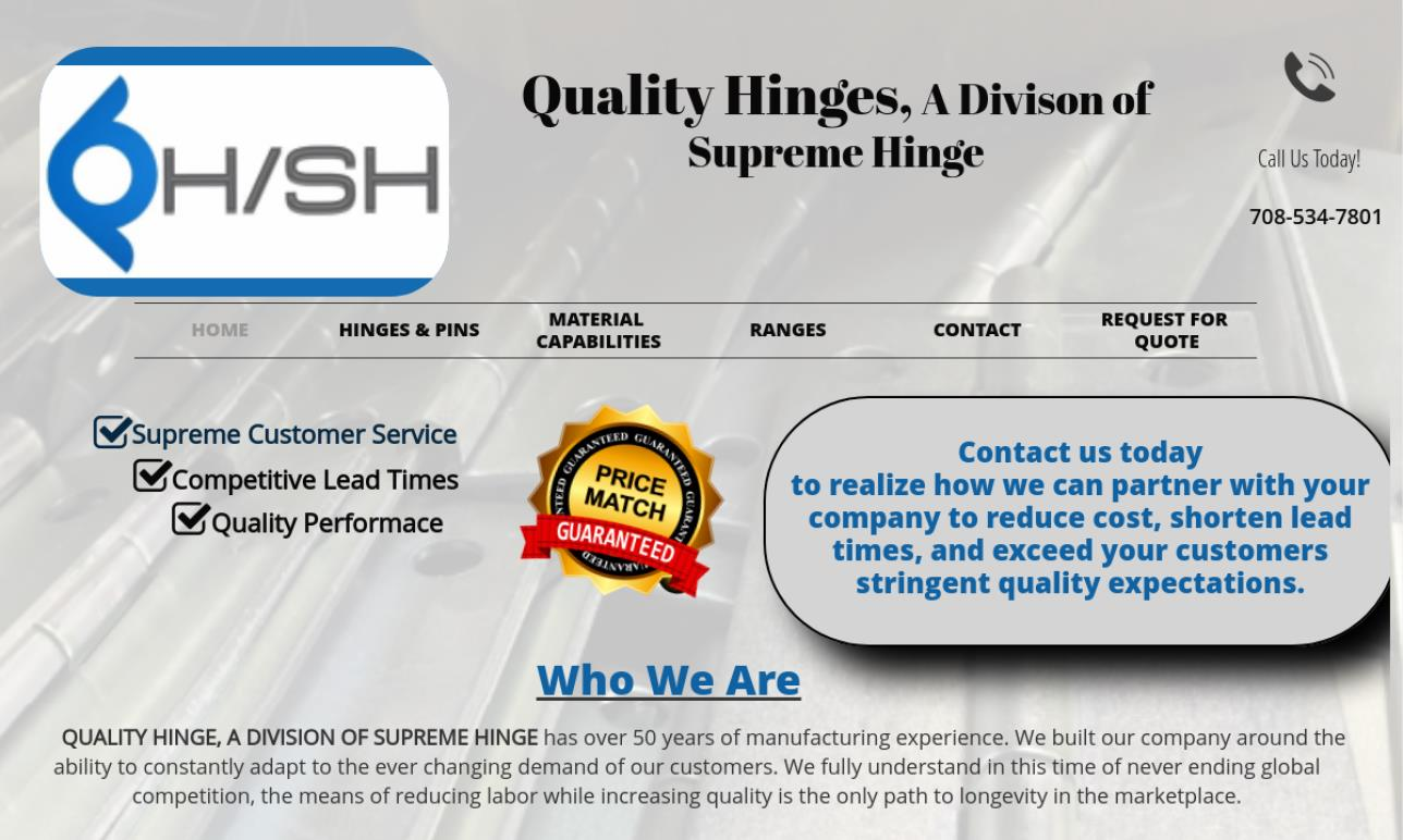 Quality Hinges, Inc.